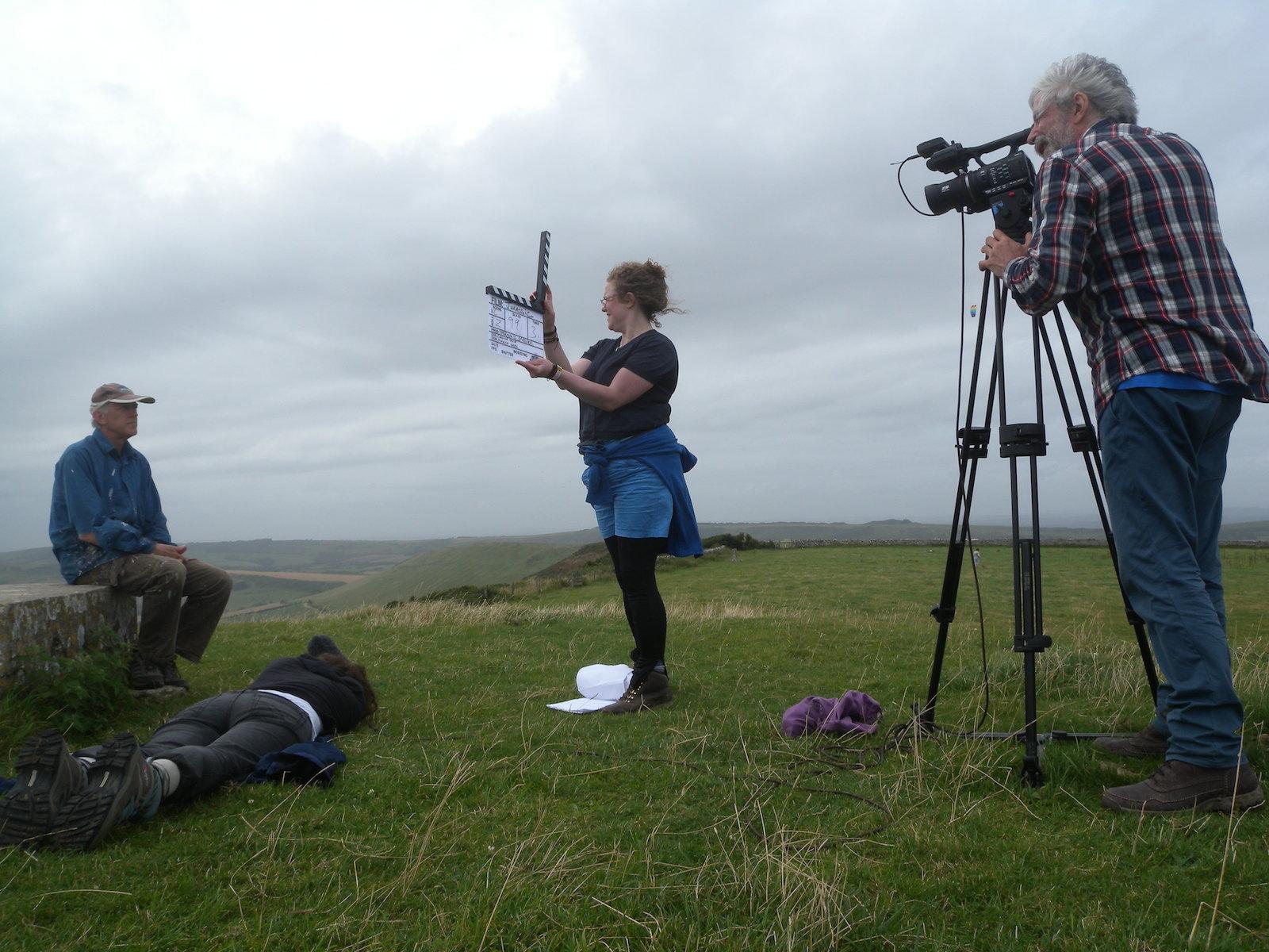August 2012 - 3D Film shoot, Swyre Head, Dorset