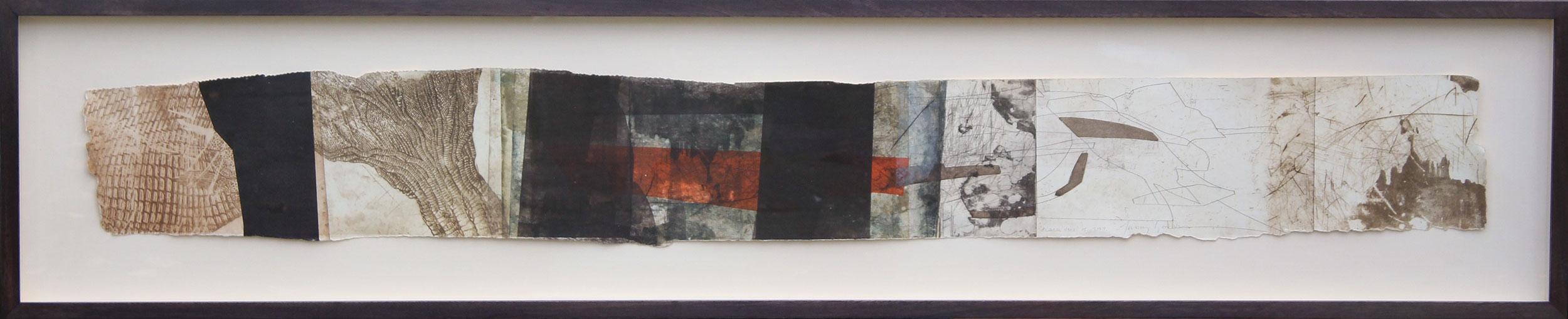 Black Ven, Dorset, 2010, Intaglio Monoprint by Jeremy Gardiner